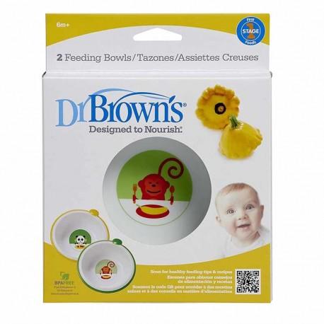 کاسه غذا خوری دکتر براونطرح پاندا و میمون Dr Browns