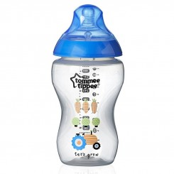 شیشه شیر خوری طلقی 340 میل تامی تیپ مدل طرح دار آبی Tommee Tippee