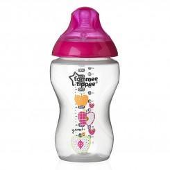 خريد اينترنتي سيسموني نوزاد شیشه شیر طلقی طرحدار صورتی تامی تیپ 340 میل Tommee Tippee نوزادی، نی نی لازم فروشگاه اینترنتی سیسمونی