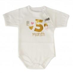 خريد اينترنتي سيسموني نوزاد لباس زیر دکمه دار  آستیتن کوتاه نوزادی از 7 تا 9 ماه طرح تولد تاپ لاین Topline نوزادی، نی نی لازم فروشگاه اینترنتی سیسمونی