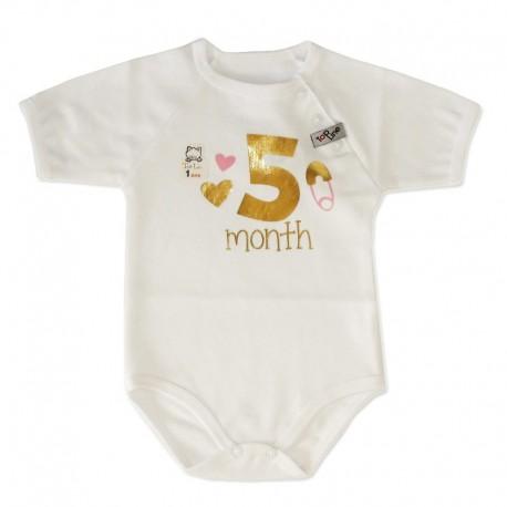 لباس زیر دکمه دار  آستیتن کوتاه نوزادی از 7 تا 9 ماه طرح تولد تاپ لاین Topline