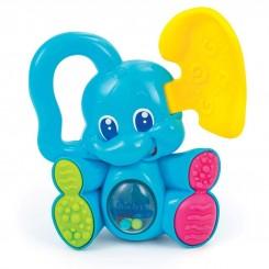 دندانگیر جغجغه ای نوزادی کلمنتونی مدل فیل آبی Clementoni