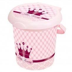 خريد اينترنتي سيسموني نوزاد سطل صورتی درب دار روتو طرح پرنسس Rotho نوزادی، نی نی لازم فروشگاه اینترنتی سیسمونی