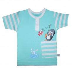 تیشرت آستین کوتاه نوزادی مدل پنگوئن به آوران Behavaran