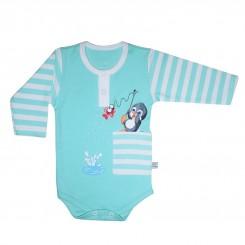 خريد اينترنتي سيسموني نوزاد زیردکمه آستین بلند نوزادی مدل پنگوئن به آوران Behavaran نوزادی، نی نی لازم فروشگاه اینترنتی سیسمونی