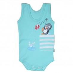 خريد اينترنتي سيسموني نوزاد زیردکمه رکابی نوزادی مدل پنگوئن به آوران Behavaran نوزادی، نی نی لازم فروشگاه اینترنتی سیسمونی
