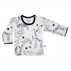 خريد اينترنتي سيسموني نوزاد بلوز آستین بلند بچگانه به آوران مدل نقاشی Behavaran نوزادی، نی نی لازم فروشگاه اینترنتی سیسمونی