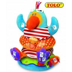 خريد اينترنتي سيسموني نوزاد عروسک چهار طبقه طوطی تولو Tolo - 1 نوزادی، نی نی لازم فروشگاه اینترنتی سیسمونی