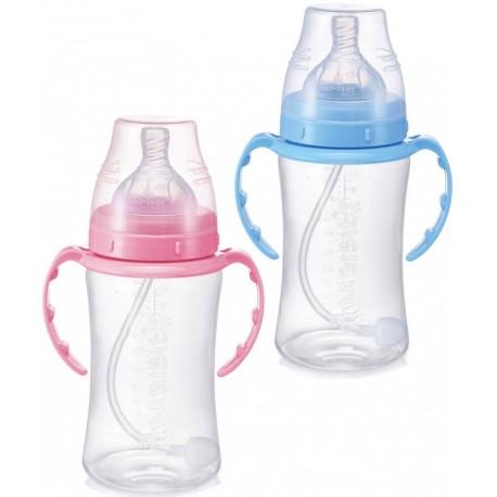 شیشه شیر دسته دار 360درجه 300میل پهن بی بی سیل Babisil