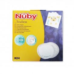 خريد اينترنتي سيسموني نوزاد پدسینه 24 عددی نابی Nuby - 1 نوزادی، نی نی لازم فروشگاه اینترنتی سیسمونی
