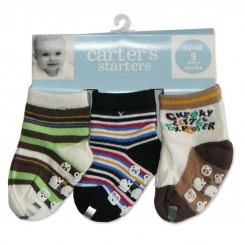خريد اينترنتي سيسموني نوزاد جوراب 3جفتی استپ دار کارترز Carters - 1 نوزادی، نی نی لازم فروشگاه اینترنتی سیسمونی