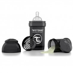 شیشه شیرضدنفخ تویست شیک 180 میل مشکی Twistshake