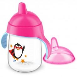 خريد اينترنتي سيسموني نوزاد لیوان سوپاپ دار 340 میل پنگوئن صورتی فیلیپس اونت18+ماه Philips Avent نوزادی، نی نی لازم فروشگاه اینترنتی سیسمونی