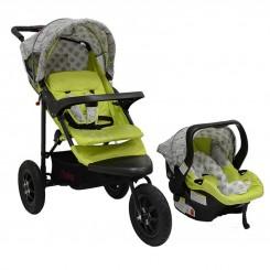 کالسکه و کریر نوزاد برند چلینو سبز مدل Chelino urban detour