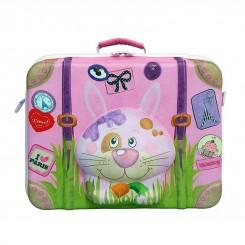 چمدان مسافرتی دخترانه برند اوکی داگ طرح خرگوش Okiedog
