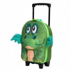 چمدان کوچک چرخ دار کودک برند اوکی داگ طرح دراگون Okiedog
