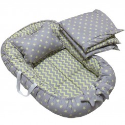 سرویس خواب 3 تکه نوزادی رنگ طوسی طرح ستاره  Papo