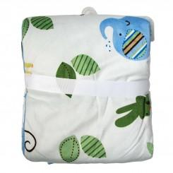پتوی نوزاد دخترانه و پسرانه کارترز طرح فیل آبی و برگ سبز Carters