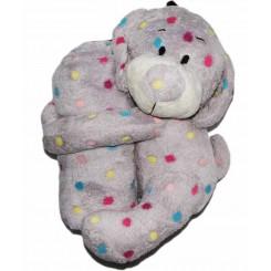 خريد اينترنتي سيسموني نوزاد پتو سگ خالدار یاسی Happy Health نوزادی، نی نی لازم فروشگاه اینترنتی سیسمونی