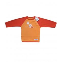 خريد اينترنتي سيسموني نوزاد یقه گرد آستین بلند پرتقالی تاپ لاین Top Line نوزادی، نی نی لازم فروشگاه اینترنتی سیسمونی