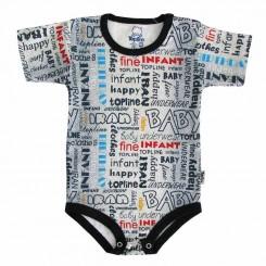 خريد اينترنتي سيسموني نوزاد لباس زیردکمه دار آستین کوتاه تاپ لاین مدل جین Topline نوزادی، نی نی لازم فروشگاه اینترنتی سیسمونی