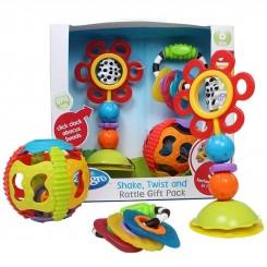 ست دندانگیر توپ و اسباب بازی چسبان صندلی غذا پلی گرو Playgro