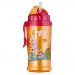 لیوان نی دار آبمیوه خوری کودک روتو رنگ نارنجی Rotho