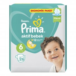 پوشک نوزاد بالای 16 کیلوگرم پریما پمپرز (سایز6) Pampers