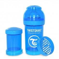 خريد اينترنتي سيسموني نوزاد شیرخوری ضدنفخ تویست شیک 180 میل آبی Twistshake نوزادی، نی نی لازم فروشگاه اینترنتی سیسمونی