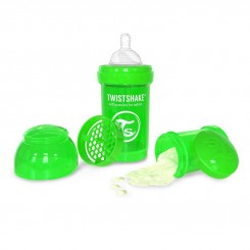 شیرخوری ضدنفخ تویست شیک 180 میل سبز Twistshake
