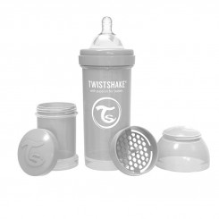شیرخوری ضدنفخ تویست شیک 180 میل طوسی Twistshake
