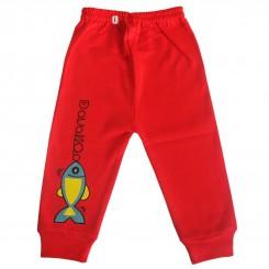 شلوار نوزادی دولو طرح قرمز ماهی Davalloo