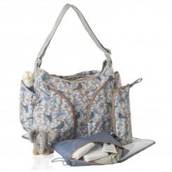 کیف مادر برند اوکی داگ مدل موندو رنگ آبی نارنجی Okiedog