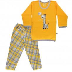 خريد اينترنتي سيسموني نوزاد بلوز و شلوار بچگانه به آوران مدل زرافه Behavaran نوزادی، نی نی لازم فروشگاه اینترنتی سیسمونی