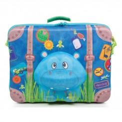 چمدان مسافرتی کودک برند اوکی داگ طرح سگ آبی Okiedog