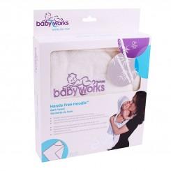 خريد اينترنتي سيسموني نوزاد حوله حمام کودک بی بی ورکس مدل آغوشی baby works نوزادی، نی نی لازم فروشگاه اینترنتی سیسمونی