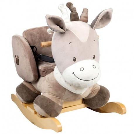 راکر چوبی ناتو مدل اسب قهوه ای NATTOU