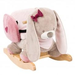 خريد اينترنتي سيسموني نوزاد راکر خرگوش صورتی کودک ناتو NATTOU نوزادی، نی نی لازم فروشگاه اینترنتی سیسمونی