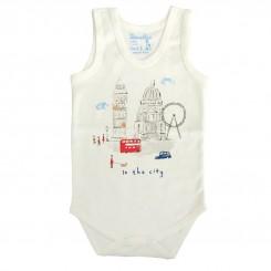 خريد اينترنتي سيسموني نوزاد لباس زیر دکمه دار رکابی بچگانه دولو مدل شهر کوچک Davalloo نوزادی، نی نی لازم فروشگاه اینترنتی سیسمونی