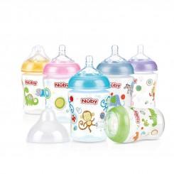 خريد اينترنتي سيسموني نوزاد شیشه شیر طرح دار مشابه سینه مادر نابی Nuby نوزادی، نی نی لازم فروشگاه اینترنتی سیسمونی