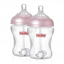 خريد اينترنتي سيسموني نوزاد ست شیشه شیر نچرال 2 عددی  360درجه نابی Nuby نوزادی، نی نی لازم فروشگاه اینترنتی سیسمونی