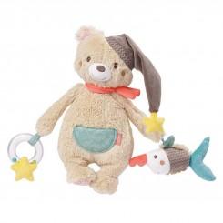 خريد اينترنتي سيسموني نوزاد آویز جغجغه بی بی فهن طرح خرس Beby Fehn نوزادی، نی نی لازم فروشگاه اینترنتی سیسمونی