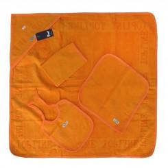 خريد اينترنتي سيسموني نوزاد سرویس حوله چهار تکه رنگی (نارنجی) تاپ لاین Top Line - 1 نوزادی، نی نی لازم فروشگاه اینترنتی سیسمونی