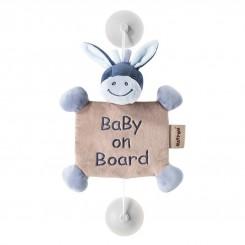آویز هشدار ماشین baby on bord ناتو طرح الاغ سرمه ای NATTOU