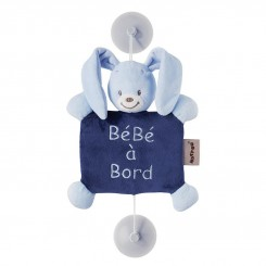 خريد اينترنتي سيسموني نوزاد آویز هشدار کودک baby on bord ناتو طرح خرگوش آبی NATTOU نوزادی، نی نی لازم فروشگاه اینترنتی سیسمونی