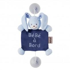 آویز هشدار کودک baby on bord ناتو طرح خرگوش آبی NATTOU