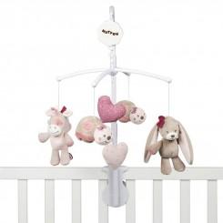 آویز تخت موزیکال نوزاد ناتو طرح خوگوش و اسب تک شاخ NATTOU