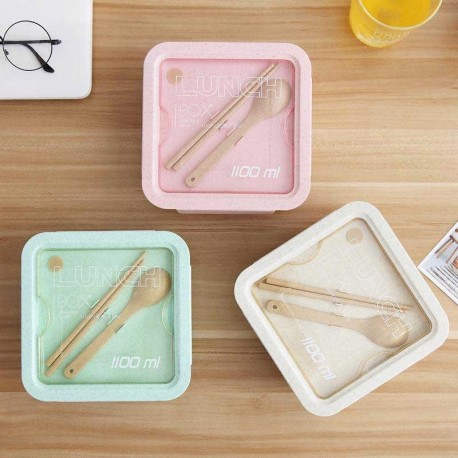 ظرف غذا گیاهی با قاشق و چاپستیک Lunch Box