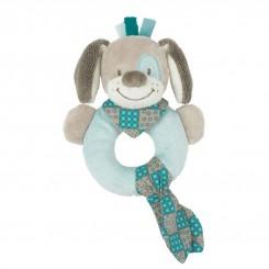 خريد اينترنتي سيسموني نوزاد اسباب بازی جغجغه حلقه ای برند ناتو مدل سگ طوسی NATTOU نوزادی، نی نی لازم فروشگاه اینترنتی سیسمونی