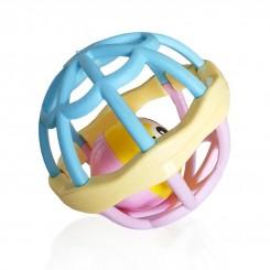خريد اينترنتي سيسموني نوزاد جغجغه توپ صورتی آبی اسباب بازی کودک نوزادی، نی نی لازم فروشگاه اینترنتی سیسمونی